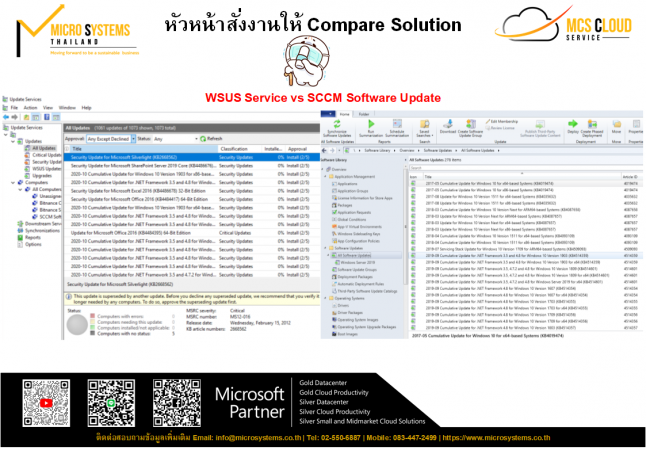 Compare Solution ระหว่าง WSUS vs SCCM Software Update Point